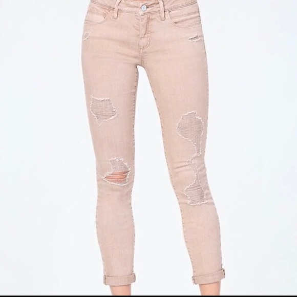 8808c36bd05 Bebe Heartbreaker Skinny Jeans Distressed Size 25. Listing Price: $13.00.  Your Offer